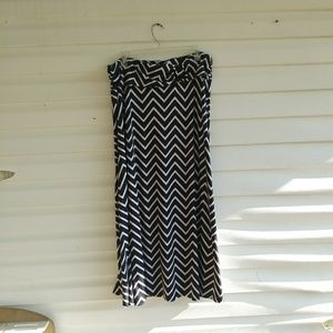 Cute ZigZag Maxi Skirt